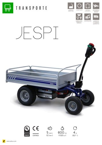 JESPI Carro eléctrico de carga
