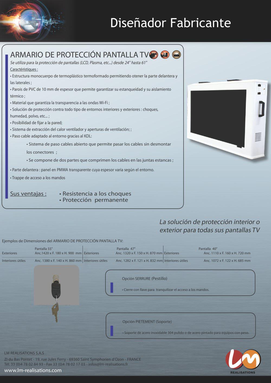 armario de proteccin pantalla tv  pginas