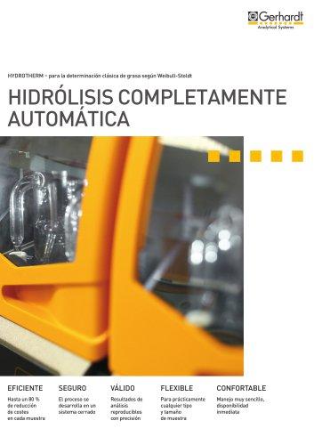 Sistema automático para hidrólisis HYDROTHERM