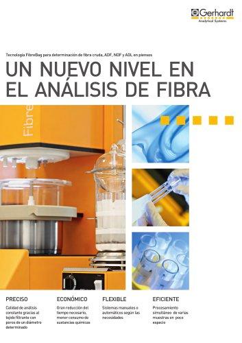 Sistema para la determinación de ADF, NDF y fibra cruda FIBRETHERM