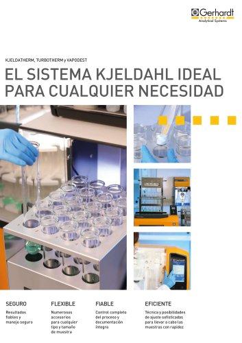 El sistema Kjeldahl ideal para cualquier necesidad