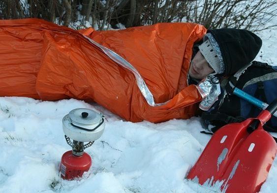 manta de salvamento / calefactada