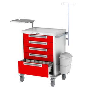 carro de emergencia / para cirugía / para aplicaciones militares / para desfibrilador