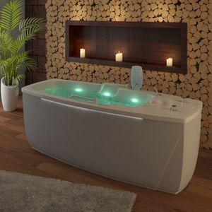 bañera de hidromasaje con lámparas de cromoterapia