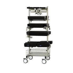 carro para quirófano / para cirugía / para accesorios de mesa de operaciones / con canastas