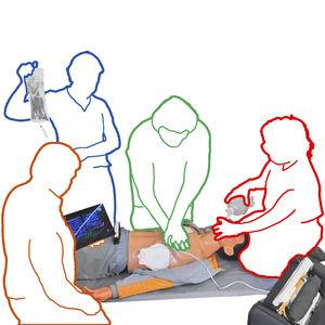 maniquí de prácticas para intubación / de insuflación manual / para RCP / con panel electrónico
