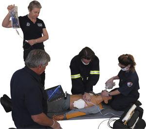 simulador de paciente para cuidados de urgencias / de intubación / de inyección intravenosa / cuerpo entero