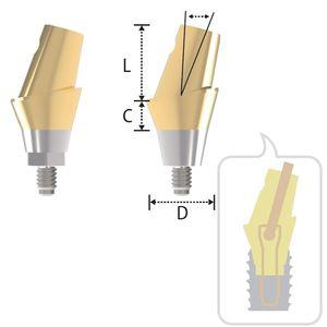 pilar para implante en ángulo / anatómico / cónico / de titanio