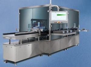 sistema de inspección automática / para ampollas / de frascos / de alta velocidad