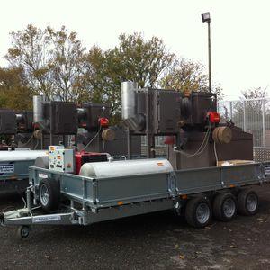 incinerador para residuos médicos / móvil