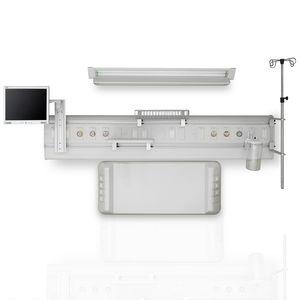 unidad médica de cabecera horizontal / mural / modular / con luz