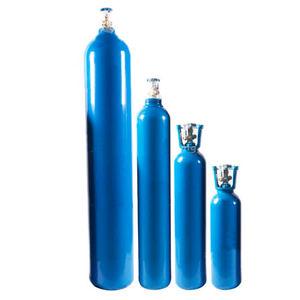 botella de gas médico de oxígeno