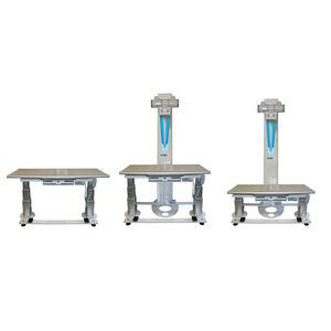 mesa para radiografía de altura regulable / con brazo portatubos