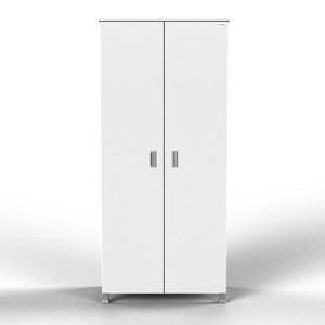 armario de lavandería / para habitación de pacientes / con 2 puertas / 1 módulo