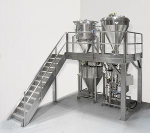 sistema de micronización de chorro de aire / para la producción / para la industria farmacéutica / cerrado