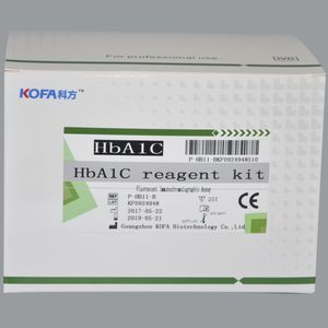 kit de prueba de diabetes / HbA1c / de sangre total / de flujo lateral