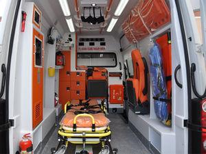 ambulancia para cuidados intensivos / furgoneta / con cuerpo modular independiente / furgoneta pequeña