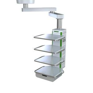 brazo de distribución / de techo / con estantes / articulado