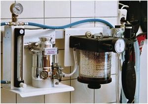 absorbedor de dióxido de carbono para estaciones de anestesia