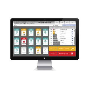 sistema de gestión de datos de pacientes / de la información / de llamada a enfermero / de análisis
