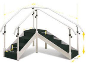 escalera de rehabilitación de ángulo