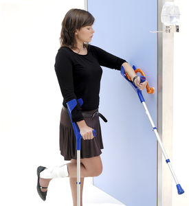 asidero de puerta de hospital / de polipropileno / antibacterias / desinfectante