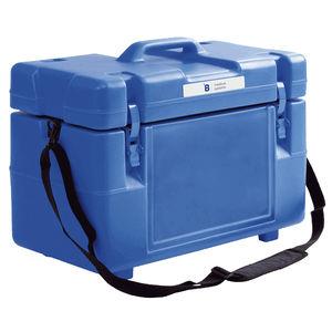 contenedor para bolsas de sangre / para muestras biológicas / de transporte / con temperatura regulable