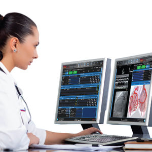 software para cardiología / para informes / de análisis
