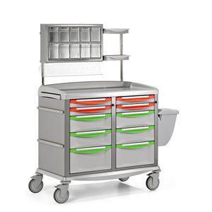carro de transporte / de uso general / con cajón / con papelera