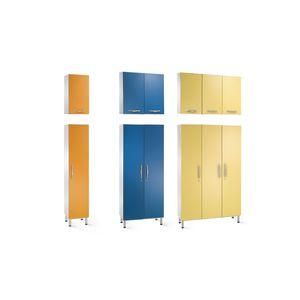 armario para ordenar / para habitación de pacientes / con puerta / con compartimento para colgar ropa