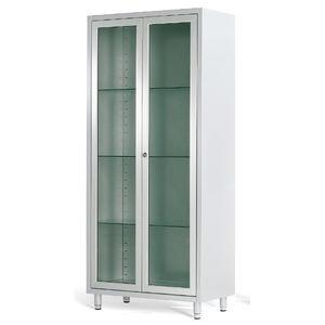 armario de hospital / con estantes / con 2 puertas