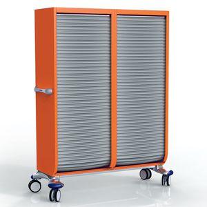 armario de transferencia / de hospital / con 2 puertas / con puerta corredera