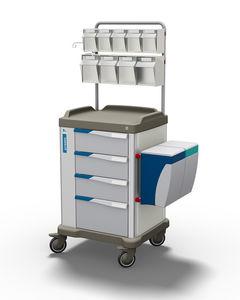 carro multifunción / de dispensación de medicamentos / de logística / con cajón
