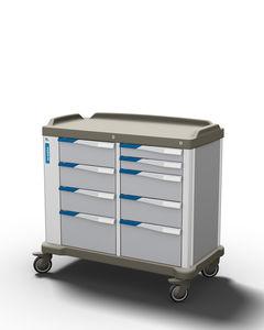 carro multifunción / de dispensación de medicamentos / de transporte / con cajón