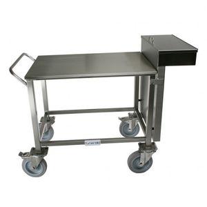 carro mortuorio / para clínica veterinaria / para instrumental / con cajón