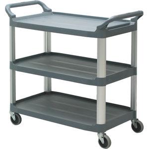 carro de transporte / de uso general / con estantes / 3 estantes