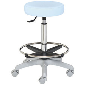 taburete para centro sanitario / de altura variable / giratorio / con ruedas