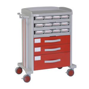 carro de dispensación de medicamentos / para medicamentos / de acero inoxidable / de aluminio