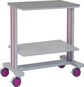 carro multifunción / 2 estantes / de hospital / de aluminio