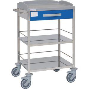 carro multifunción / con cajón / 2 estantes / de hospital