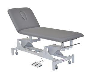 mesa de exploración eléctrica / de altura variable / con ruedas / con respaldo regulable