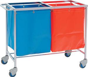 carro de almacenamiento / para ropa sucia / con espacio de almacenamiento / 2 bolsas