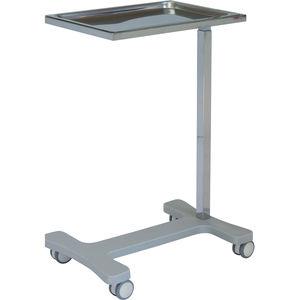 mesa de Mayo con ruedas / de altura regulable / de acero inoxidable
