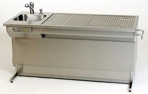 mesa de macroscopia / de laboratorio / rectangular / de altura regulable