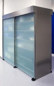 armario para almacenamiento de muestras / para muestras de laboratorio / de laboratorio / con puerta corredera