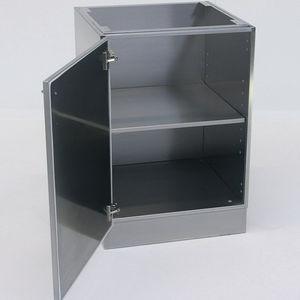 armario para base / de laboratorio / con puerta abatible / de acero inoxidable