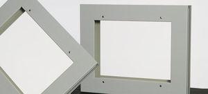 ventana de hospital / de protección radiológica / de cristal de plomo