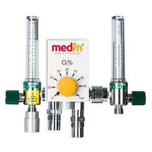 mezclador de gases de oxígeno / de aire / con doble tubo flujómetro