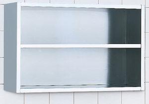 armario de hospital / de acero inoxidable / mural