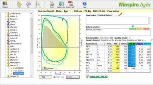 software de espirometría